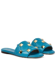 Valentino Garavani Roman Stud leather slides