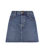 The Mini Cut-Off jean skirt