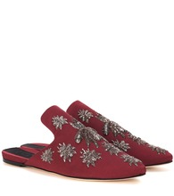 Multi Ragno embellished slippers
