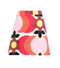 Exclusive to mytheresa.com – printed cotton-terry skirt