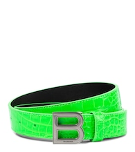 Hourglass croc-effect leather belt