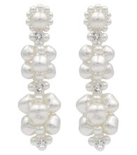 Exclusive to Mytheresa – Faux pearl and crystal earrings