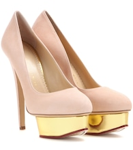 Plateaupumps Dolly aus Veloursleder