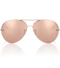 Rose Gold-plated aviator sunglasses