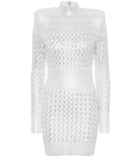 Knitted metallic minidress