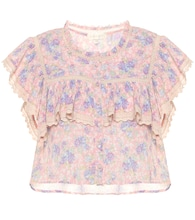 Laurel floral cotton top