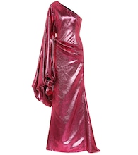 Metallic asymmetric gown