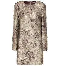 Metallic cloqué jacquard dress