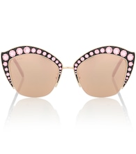 Crystal embellished cat-eye sunglasses