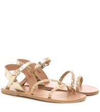 Afrodti Braids leather sandals