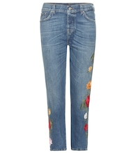 Josefina Crop embroidered jeans