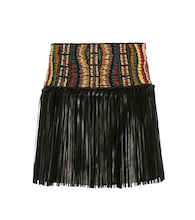 Beaded leather skirt