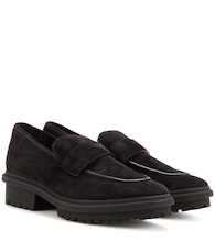 Shearling-lined suede loafers