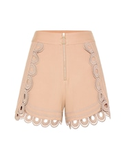 Shorts with guipure lace