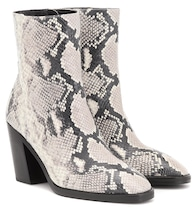 Wynter 80 snake-effect ankle boots