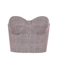 Peggy checked stretch-twill top
