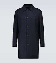 Malden virgin wool gabardine coat
