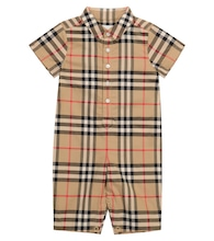 Baby Vintage Check cotton onesie