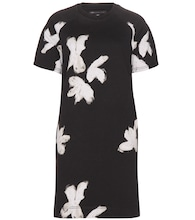 Grand Floral printed cotton-blend dress