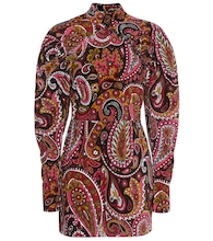 Paisley cotton minidress