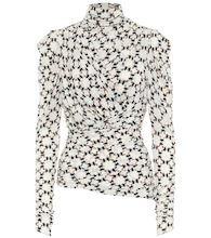 Jalford printed stretch-jersey top