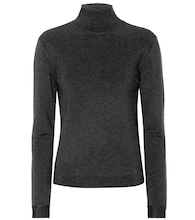 Stretch-wool turtleneck sweater