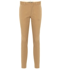 Mid-rise skinny cotton blend pants