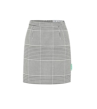 Houndstooth high-rise miniskirt