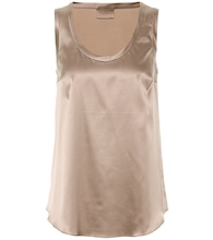Silk-satin tank top