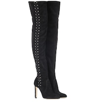 Marie 100 suede over-the-knee boots