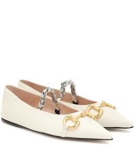Horsebit leather ballet flats