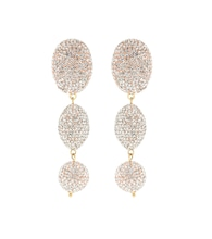 Bubble crystal-embellished earrings