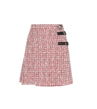 Embellished tweed skirt