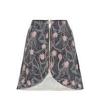 Prickly printed cotton skirt