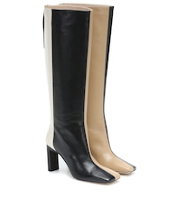 Isa leather knee-high boots