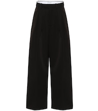 High-rise wool wide-leg pants