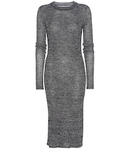 Dakota linen and wool-blend dress
