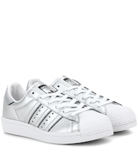 Superstar Boost metallic faux leather sneakers