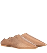 Amina Space metallic leather slippers