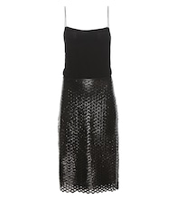 Zim silk slip dress with coated skirt