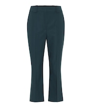 Slim-leg wool pants