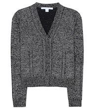 Adelyn Metallic wool-blend cardigan