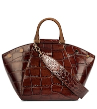 Anita Small croc-effect leather tote