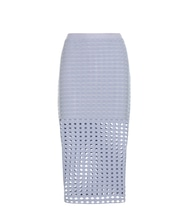Perforated jersey skirt