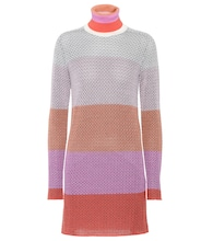 Knitted wool-blend minidress
