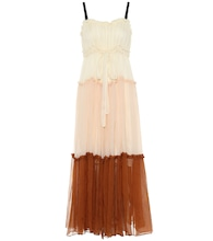 Celia silk maxi dress