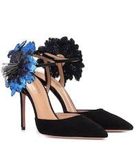Disco Flower 105 suede pumps