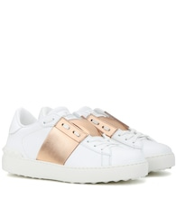 Valentino Garavani Open metallic leather sneakers
