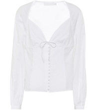 June stretch-cotton blouse