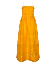Canary linen and silk maxi dress
